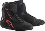 Alpinestars FASTBACK-2 Drystar Leather Motorcycle Riding Shoes (Black/Gray/Red)