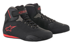 Alpinestars SEKTOR Vented CE Certified Street Riding Shoes (Black/Grey/Red)