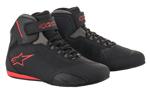 Alpinestars SEKTOR Vented CE Certified Street Riding Shoes (Black/Grey/Red)