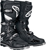 ALPINESTARS Tech 3 Off-Road Boots w/ All Terrain Sole (Black)