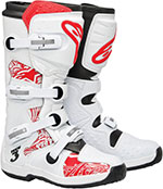 ALPINESTARS Tech 3 Off-Road Boots (White/Red)