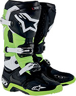 ALPINESTARS Tech 10 Off-Road Boots (Black/Green)