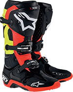 ALPINESTARS Tech 10 Off-Road Boots (Black/Red/Yellow)