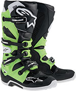 ALPINESTARS Tech 7 Off-Road Boots (Black/Green)