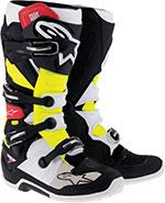 Alpinestars Tech 7 Off-Road Boots (Black/Red/Yellow)