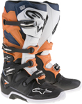 ALPINESTARS Motocross Offroad 2017 TECH 7 Boots (Black/Orange/White)