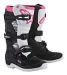 Alpinestars MX/Motocross Stella TECH 3 Boots (Black/White/Pink)