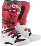 Alpinestars MX Motocross Tech 7 Boots (White/Red/Burgundy)