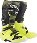 Alpinestars MX Motocross Tech 7 Boots (Yellow Fluo/Military Green/Black)