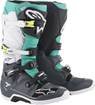 Alpinestars MX Motocross Tech 7 Boots (Gray/Teal/White)