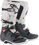 Alpinestars MX Motocross Tech 7 Boots (Dark Gray/Light Gray/Fluo Red)