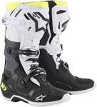 Alpinestars MX Motocross Tech 10 Boots (Black/White/Yellow Fluo)