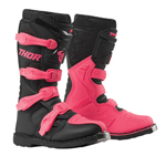 Thor MX Motocross Women's Blitz XP Boots (Black/Pink)