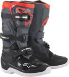 Alpinestars MX Motocross Tech 7S Youth Boots (Black/Dark Gray/Red Fluo)