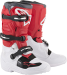 Alpinestars MX Motocross Tech 7S Youth Boots (White/Red/Gray)