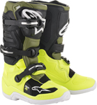 Alpinestars MX Motocross Tech 7S Youth Boots (Yellow Fluo/Military Green/Black)