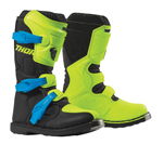 Thor MX Motocross Youth Blitz XP Boots (Flo Acid/Black)