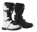 Thor MX Motocross Youth Blitz XP Boots (White/Black)