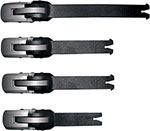 ALPINESTARS Replacement Buckle/Strap Set for Tech 7 Boots 2007-2008 (Black)
