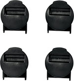 ALPINESTARS Replacement Strap Locker Set for Tech 8 Boots 2009-Up (Black)