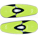 ALPINESTARS Replacement Toe Slider Set for Supertech / SMX Boots (Black/Yellow)
