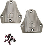 ICON Replacement Heelplates for 1000 El Bajo Boots (Antique Silver)