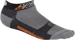 Moose Racing MX Off-Road Casual Low Socks (Black/Gray)