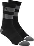 100% MX Motocross Men's FLOW Performance Socks (Black/Grey)