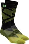 100% MX Motocross Men's RIFT Athletic Socks (Green/Black)