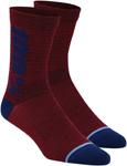100% RYTHYM Merino Wool Performance Socks (Brick Red)