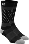 100% MX Motocross Men's OPPOSITION Casual Socks (Black/Gray)