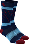 100% MX Motocross Men's OPPOSITION Casual Socks (Blue/Burgundy)