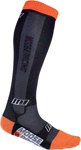 MOOSE Racing MX Motocross Offroad M1 Over-the-Calf Socks (Black/Orange)