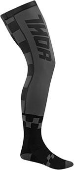 THOR MX Motocross 2016 Men's COMP Full-length Knee Brace Socks (Black/Charcoal)