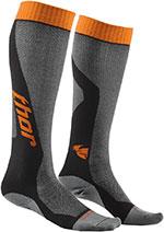 THOR MX Motocross 2016 Men's MX Cool Socks (Gray/Orange)