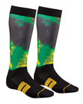 THOR MX Motocross Men's 2017 MOTO Sub Socks (Lime)
