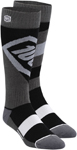 100% MX Motocross TORQUE Performance Tech Moto Socks (Black)