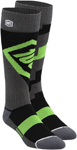 100% MX Motocross TORQUE Performance Tech Moto Socks (Lime)