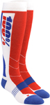 100% MX Motocross HI-SIDE Performance Tech Moto Socks (White)