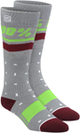 100% MX Motocross Women's GROOVE Moto Socks (Grey) One Size