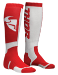 THOR MX Motocross Men's 2018 MX Socks (Red/White)