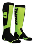 THOR MX Motocross Kids 2018 MX Socks (Black/Lime)