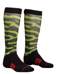 THOR MX Motocross Men's 2018 MOTO SUB Socks (Black/Lime)