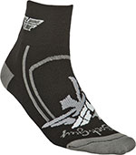 FLY RACING Shorty Socks (Black/Gray)