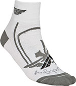 FLY RACING Shorty Socks (White/Gray)