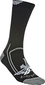 FLY RACING Crew Socks (Black/Gray)