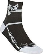 FLY RACING Action Socks, Stretch-To-Fit Sizing (Black/White)