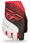 FLY RACING Watercraft MTB BMX 2017 LITE Fingerless Gloves (Red/White)