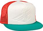Fly Racing Foam Trucker Hat FlexFit, Flat Bill, Snapback (Teal/Orange)