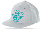FLY RACING MX Motocross 2017 REVEL Flex-Fit Curved Bill Hat/Cap (Grey/Teal)